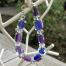 bracelet est composé de perles artisanales en verre filé au chalumeau et de perles transparentes en verre tchèque. Fermoir en argent